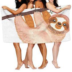 KAYERDELLE Unisex Sloth Beach Towels Washcloths Bath Towels