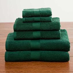 Lantrix SOFT 100% Natural COTTON 6 Piece TOWEL SET