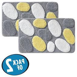 mDesign Soft Microfiber Polyester Non-Slip Rectangular Spa R