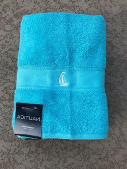 Nautica Solid Sailboat Emb Bath Towels Set Of 2 100% Cotton