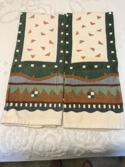 SOUTHWEST WESTERN Pattern Towels By Spring Bath Fashions Set