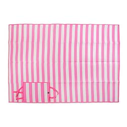 """Extra Large Stripe Beach Picnic Mat, 60x78"""" Portable with Ca"""