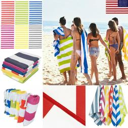 Striped EXTRA Large Quick Dry Beach Towels Microfiber Sports