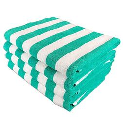 California Cabana Striped Oversized Beach Towel | Set of Fou