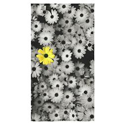 Stylish And Customized Soft And Comfortable Yellow Flower In