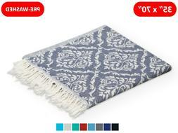 100% Cotton Multipurpose Turkish Towel Quick-Dry Beach Bath