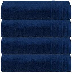 Glamburg Super Soft Zero Twist 4 Piece Bath Towel Set - 100%