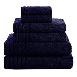 Cotton Craft - Super Zero Twist 6 Piece Towel Set - Navy - 7