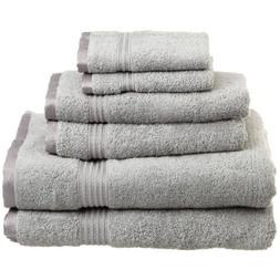 Superior Egyptian Cotton 600gsm 6 Piece Towel Set Color: Sil