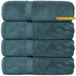 Superior Long-Stable Turkish Cotton 4-Piece Bath Towels, Eco