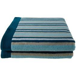 Simple Luxury Superior Stripes 100pct Cotton Bath Sheet
