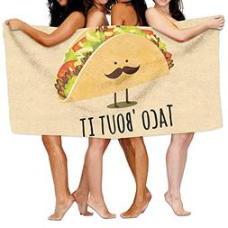 KAYERDELLE Unisex Taco Bout It Beach Towels Washcloths Bath