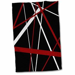 3D Rose Red and White Stripes on A Black Background TWL_2140