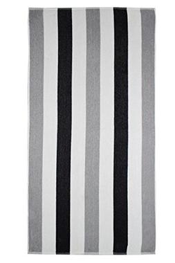 Cotton Craft Terry Beach Towel 30x60-2 Pack - Cabana Stripe