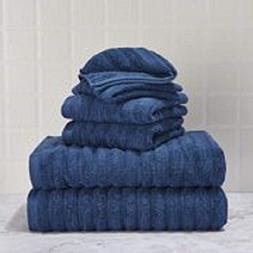 Performance Texture 6-Piece Towel Set, Multiple Colors