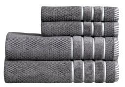 Towel Set 4 PC Set 100% Cotton 600 GSM 2 Bath 2 hand Towels-