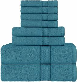 8 Piece Towel Set includes Bath Towel Hand Towel Washcloth 6