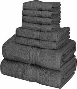 8 Piece Towel Set 2 Bath Towels 2 Hand Towels 4 Washcloths C