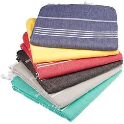 Towel Set 6 Pieces Variety - Classic Turkish Peshtemal Towel