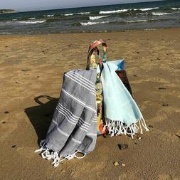 Turkish Cotton Absorbent Beach, Yoga, & Bath 100% Organic To