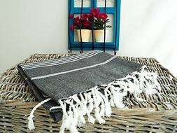 XL 100% Turkish Cotton Bath Beach Hammam Towel Peshtemal Th