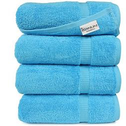 Turkish Luxury Hotel Spa Bath Towel Set of 4 Genuine Cotton
