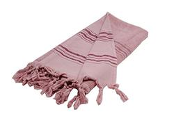 Large Turkish Towel with Soft Terryback, Striped Peshtemal T