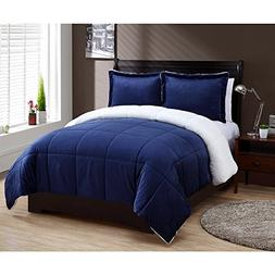 VCNY Home Micro Mink Reversible Sherpa 2 Piece Bedding Comfo