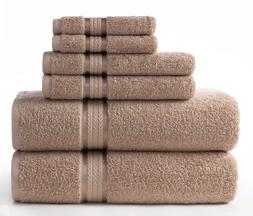 Cotton Craft Ultra Soft 6 Piece Towel Set Linen, Luxurious 1