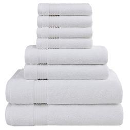 Cotton Paradise Ultra Soft 8 Piece Towel Set, 100% Combed Co