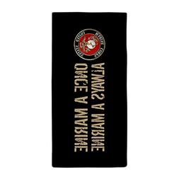 CafePress USMC: Once A Marine  - Large Beach Towel, Soft 30""