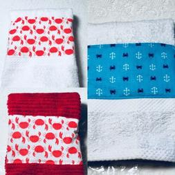 Very Crabby Hand Towel  - Great Kitchen / Bath  Home Decor -