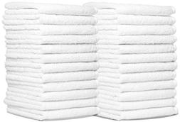 Wash Cloth Towels by Royal, 60-Pack, 100% Natural Cotton, 12