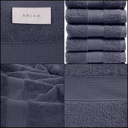 6 Piece Washcloth Set. 2017. Premium Quality Turkish Towels.