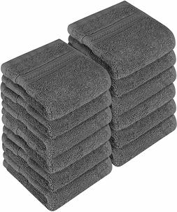"Pack of 12 Washcloth Towel Set Premium Cotton 700 GSM 12x12"""