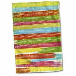 3dRose Watercolor Cactus Pattern Towel, 15 x 22