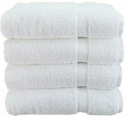 Wealuxe Cotton Bath Towels - Soft and Absorbent Spa Towel -