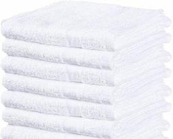White 100% Cotton Terry Bath Towels - Hotel Gym Salon-Pack o