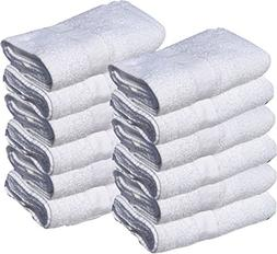 84 PCS NEW WHITE 22X44 100% COTTON ECONOMY BATH TOWELS EXTRA