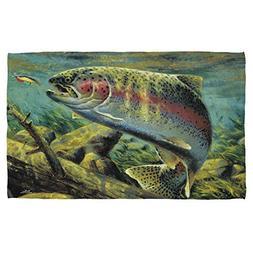 Wild Wings Wild Animals Prints Rainbow Trout Fishing Beach T