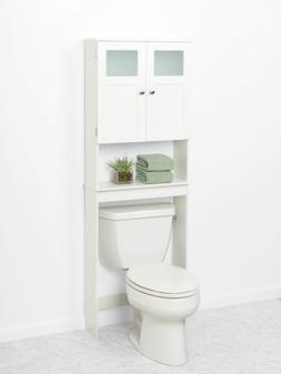 Zenith Wood Spacesaver Bath Storage with Glass Doors
