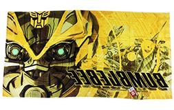 Yellow Transformers Bumblebee Face Beach and Bath Towel
