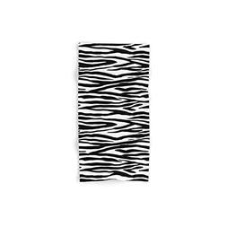 Society6 Zebra Stripes Pattern Black And White Set of 4
